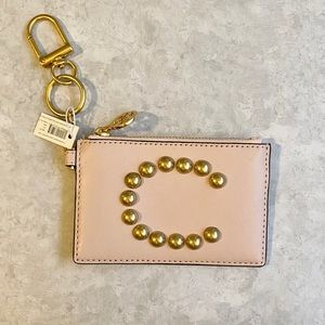Tory Burch 'C' Card Case Key Fob